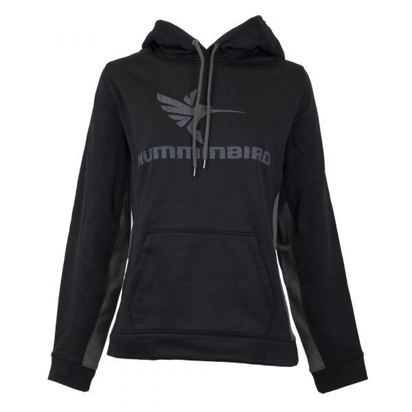 Humminbird women's black colorblock hoodie