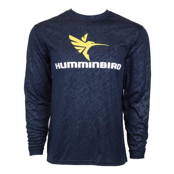 Navy Embossed Humminbird Long Sleeve T-shirt