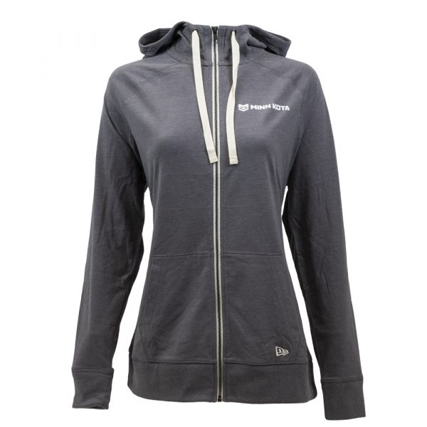 Ladies sueded full zip hoodie. Minn Kota Brand.